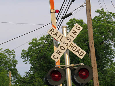 Photograph - Railroad Crossing by Aaron Martens