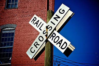 Railroad Crossing Art Print by Brandon Addis