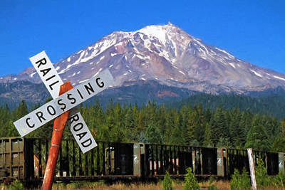 Photograph - Railroad Crossing by Donna Kennedy
