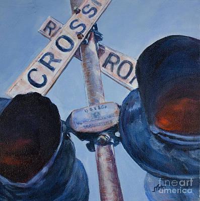 Railroad Crossing Art Print by Janet Felts