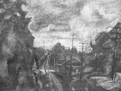 Drawing - Railroad Crossing by Jott DH