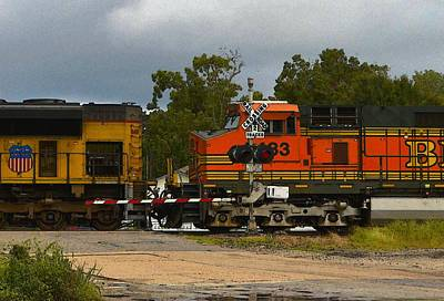 Photograph - Railroad Crossing by Nadalyn Larsen