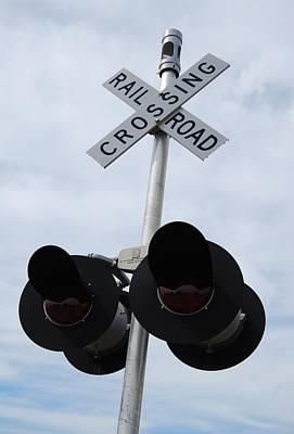 Art Print featuring the photograph Railroad Crossing by Ramona Whiteaker