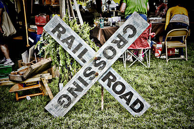 Photograph - Railroad Crossing Sign by Sharon Popek