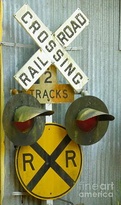 Photograph - Railroad Crossing by Tamyra Crossley