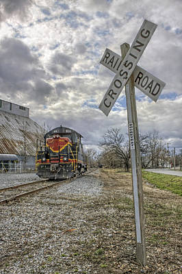 Photograph - Railroad Crossing With Engine 414 by Jason Politte