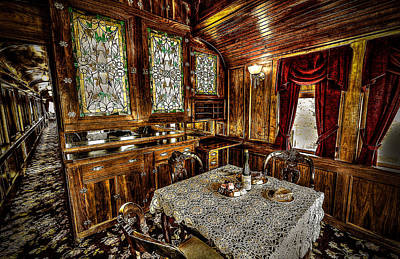 Photograph - Railroad Dinnertable by David Morefield