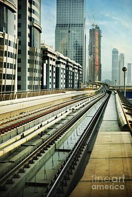 Railroad In Dubai Art Print by Jelena Jovanovic