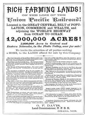 Destiny Painting - Railroad Land Sale, C1870 by Granger