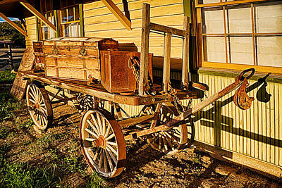 Railroad Luggage Cart Art Print by Priscilla Burgers