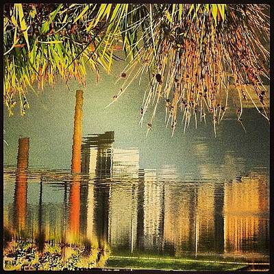 Abstract Skyline Wall Art - Photograph - Railroad Park #latergram #abstract by Miranda Johnson