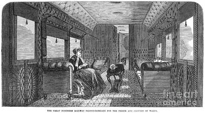 Photograph - Railroad: Saloon, 1867 by Granger