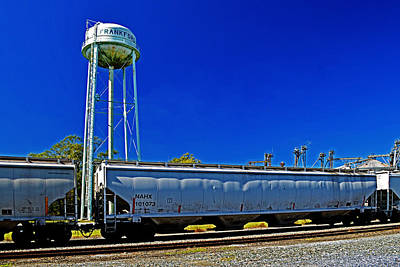 Comic Character Paintings - Railroad Siding in Frankford Delaware by Bill Swartwout Photography