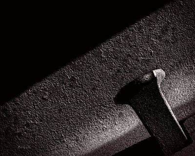 Canon 6d Photograph - Railroad Spike And Rail by Bob Orsillo