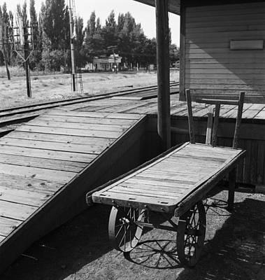 Wooden Platform Photograph - Railroad Station, 1939 by Granger
