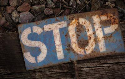 Railroad-stop Sign Art Print by Joe Gemignani