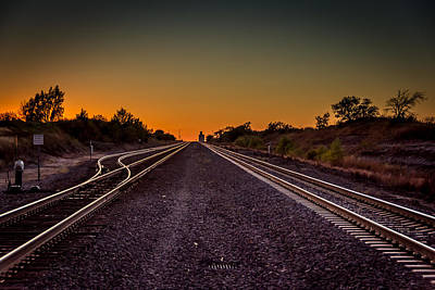 Mayfield Photograph - Railroad Sunset by Larry Pacey