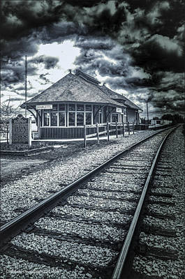 Photograph - Railroad Ties Marlette Michigan by LeeAnn McLaneGoetz McLaneGoetzStudioLLCcom