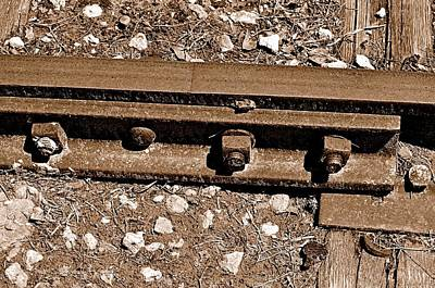 Railroad Track Art Print by Andres LaBrada