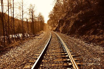 Railroad Track Art Print by Cheryl Boutwell