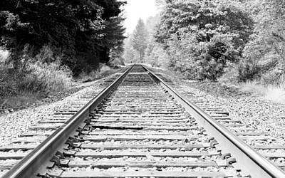 Photograph - Railroad Tracks by Athena Mckinzie