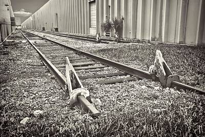 Photograph - Railroad Tracks Bw by Rudy Umans