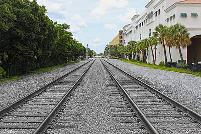 Photograph - Railroad Tracks by Carlos Diaz