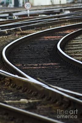 Railroad Tracks Art Print by Crown Copyright/Health & Safety Laboratory