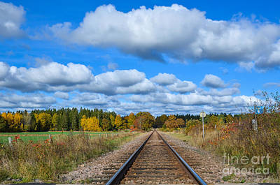 Photograph - Railroad Tracks by Kennerth and Birgitta Kullman