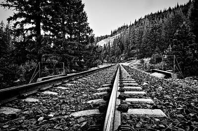 Photograph - Railroad Tracks  by Maria Coulson