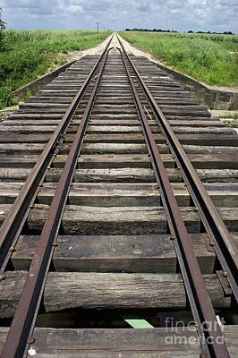 Railroad Tracks Art Print by Sami Sarkis