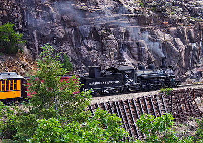 Photograph - Train Ride From Silverton To Durango Narrow Gauge Railroad  by Jerry Cowart