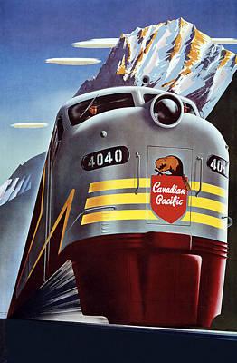 Railroad Travel Poster Art Print