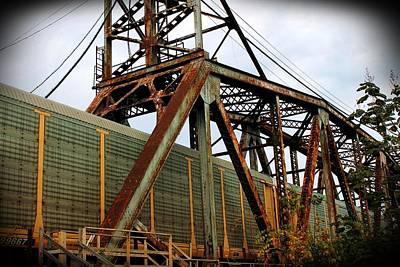City Life Photograph - Railroad Trestle by Alina Skye