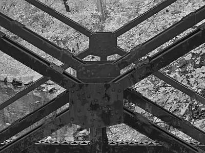 Photograph - Railroad Trestle Framework by Digital Photographic Arts
