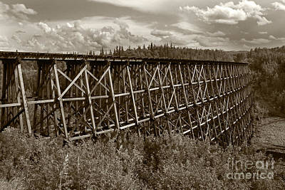 Photograph - Railroad Trestle by Inge Riis McDonald