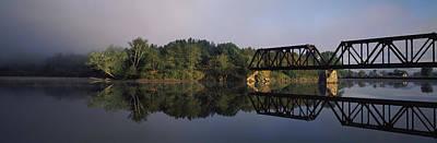 Railroad Trestle On Connecticut River Art Print