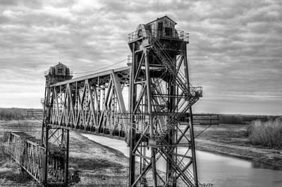 Desserted Photograph - Railroad Vertical Lift Bridge by JC Findley