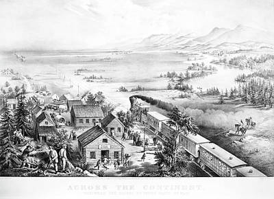 Destiny Painting - Railroad West, 1868 by Granger