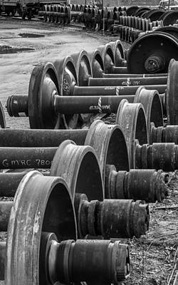 Photograph - Railroad Wheels by Thomas Lavoie