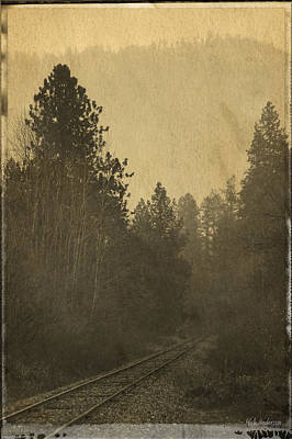 Photograph - Rails In The Rogue Valley - Vintage Effect by Mick Anderson