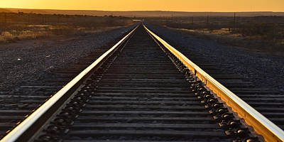 Photograph - Rails In The Sunset by Ken Smith