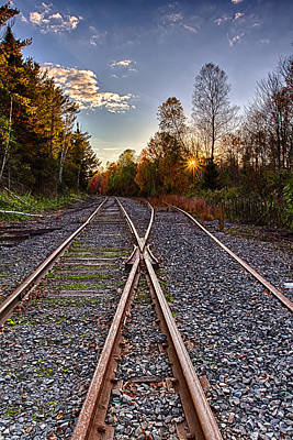 Photograph - Rails In The Wilderness by Jeff Sinon