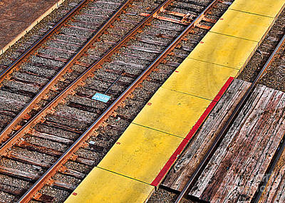 Photograph - Rails by Lawrence Burry