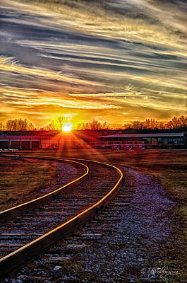 Art Print featuring the photograph Rails by Skip Tribby