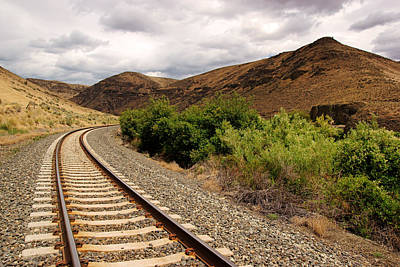 Photograph - Rails Through Yakima Canyon by Daniel Woodrum
