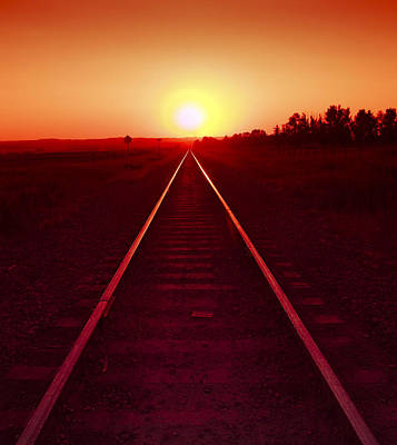 Rails To The Sun Art Print