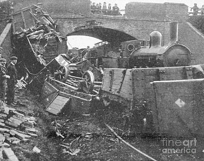 Railway Accident, 1899 Art Print by British Library