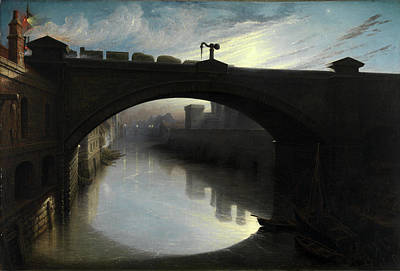 Railway Bridge Over The River Cart, Paisley Signed Art Print