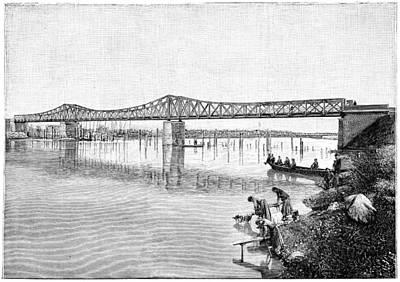 Asti Photograph - Railway Bridge Over The Tanaro, 1893 by Science Photo Library